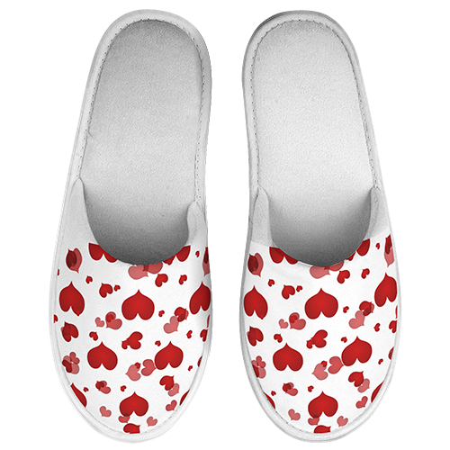 Valentines Mothers Day Heart Printed Slippers
