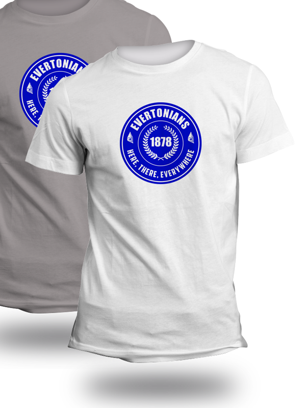Evertonians Here There Everywhere TShirt