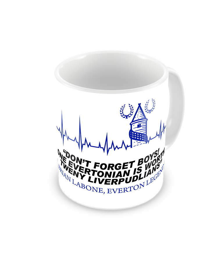 Brian Labone Famous Everton Quote Coffee Mug