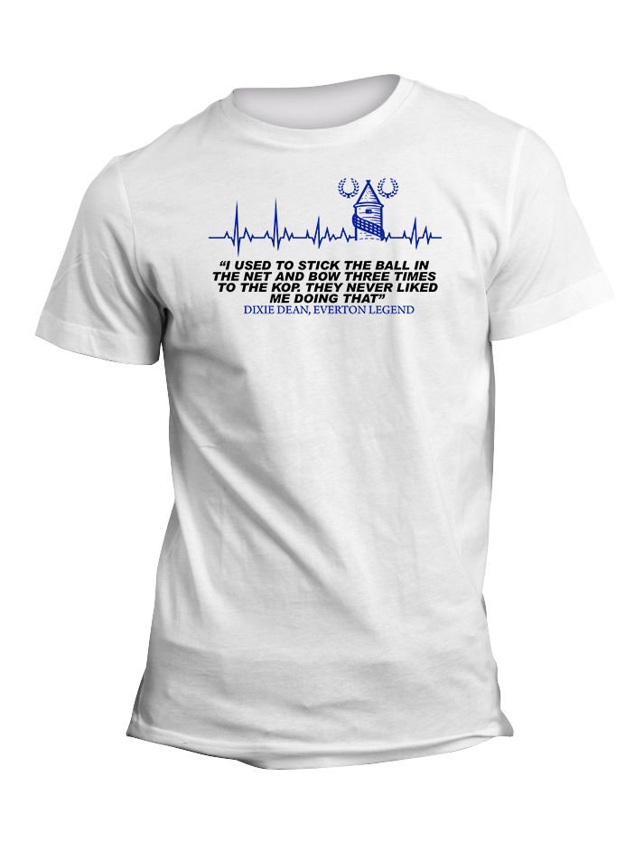 Dixie Dean Everton Legend Quote TShirt