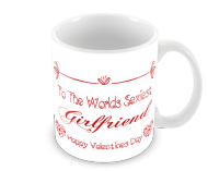 Worlds Sexiest Girlfriend Valentines Coffee Mug Red Text