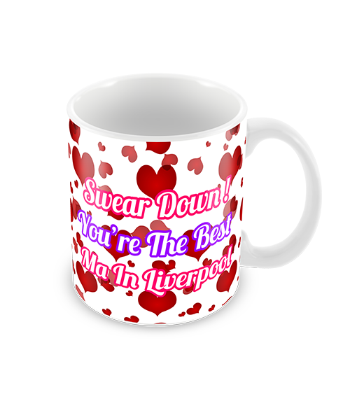 Red Hearts Mothers Day Coffee Mug