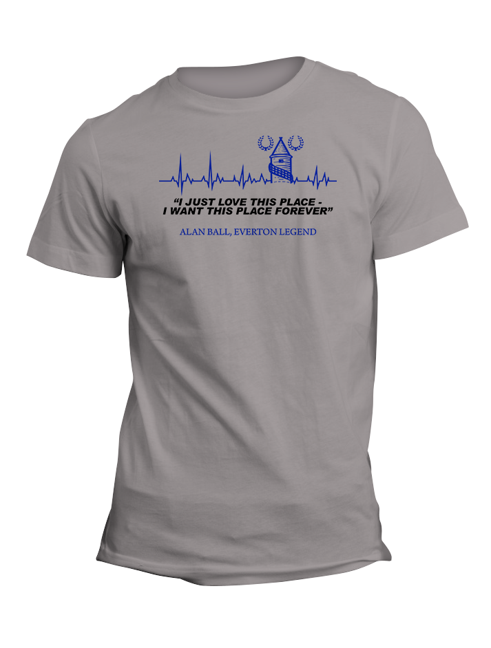 Alan Ball Everton Legend Quote TShirt