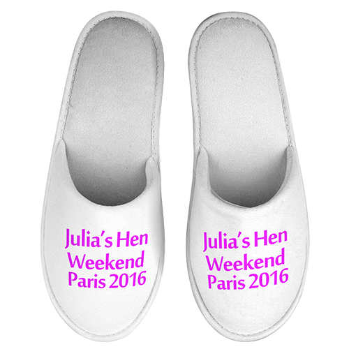 Hen Party Weekend Slippers