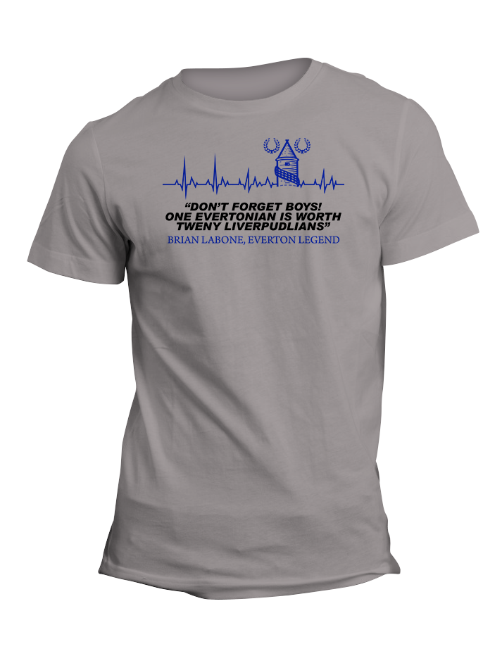 Brian Labone Everton Legend Quote TShirt