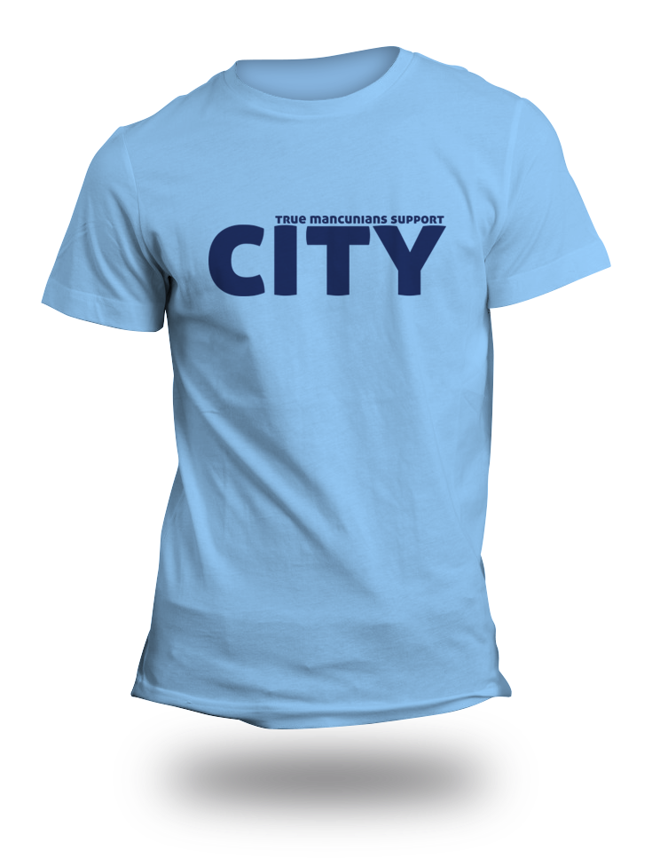 Real Mancunians Support City TShirt