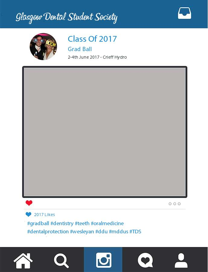 Printed Class Of 2017 Glasgow Dental Student Society Frame