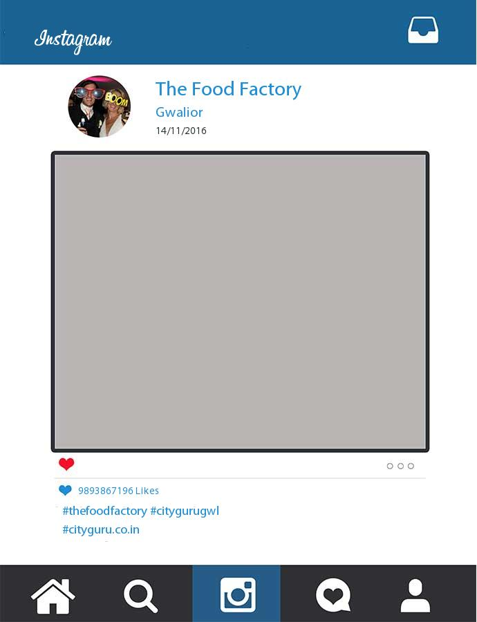Printed The Food Factory Instagram Frame