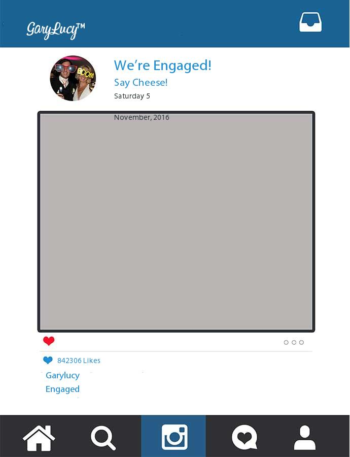 Printed Were Engaged Garylucy Frame