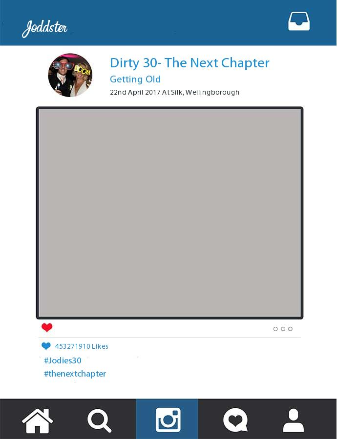 Printed Dirty 30- The Next Chapter Joddster Frame